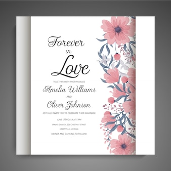 Set of card with flower rose, leaves. wedding ornament concept. floral poster, invite.