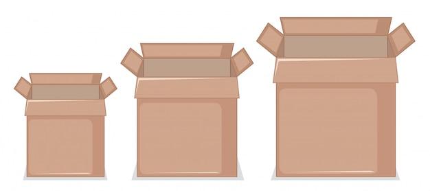 Set of cardboard box
