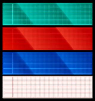Set of cardio scanner grids