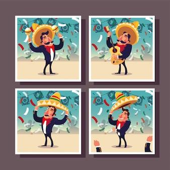 Set of cards cinco de mayo