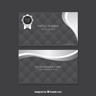 Set of cards for vip club