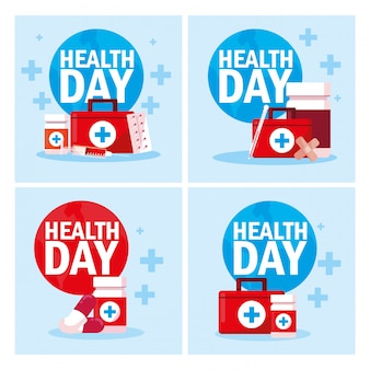 Set of cards world health day