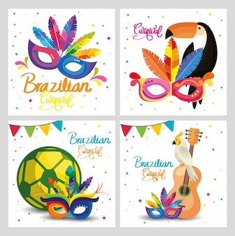 Set carnival brazil cards