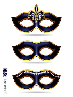Set of carnival mask
