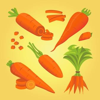 Установите морковь векторные иллюстрации