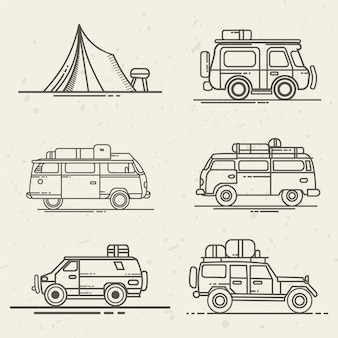 旅行用の車を設定する