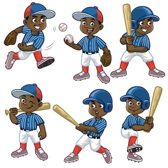 Установить мультфильм черный мальчик бейсболист