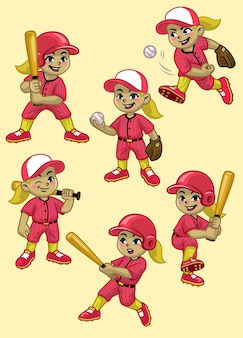 Установить мультфильм девушка бейсболист