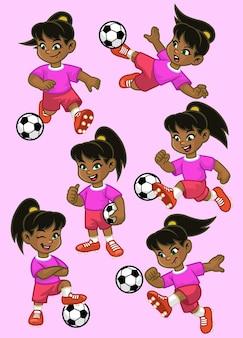 Установить мультфильм маленькая девочка футболист