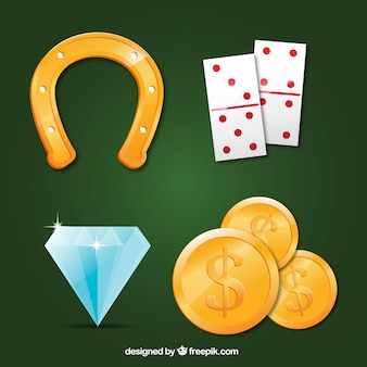 Set of casino elements