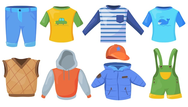 Set of casual male clothes for kids