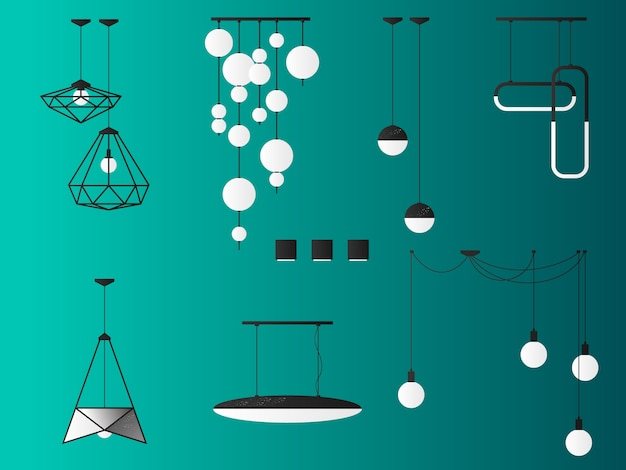 Set ceiling lights.