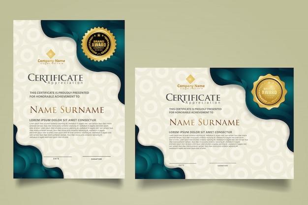 Set certificate diploma template