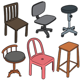 Set of chair cartoon