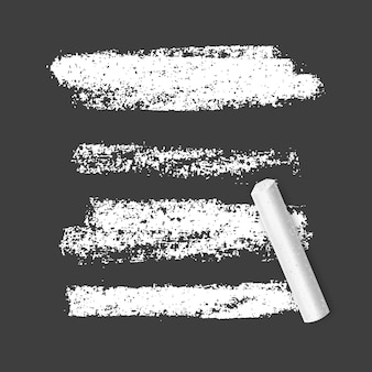 Set of chalk brushes of white color o