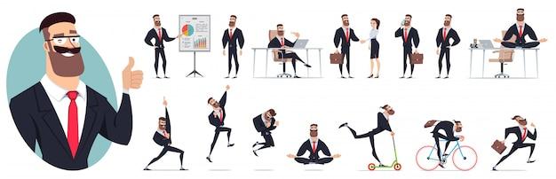 Set of character illustration
