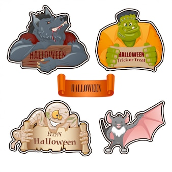 Set of characters for halloween