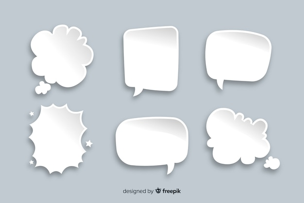 Set of chat bubbles in comic style