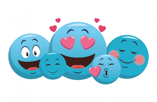 Set of chat emoticons