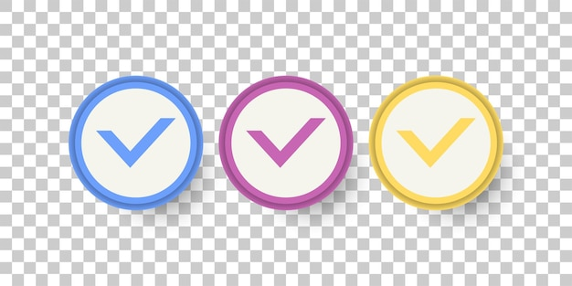 Set check list symbol template design