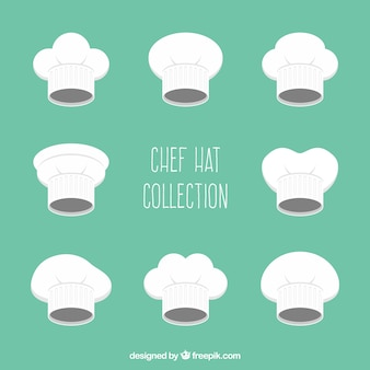 Set of chef hats with variety of designs