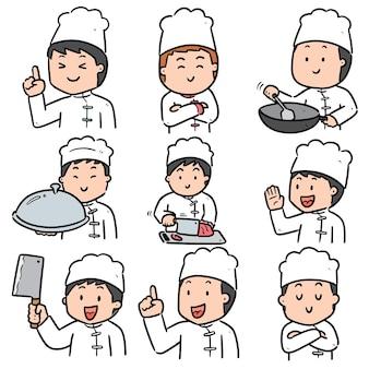 Set of chef