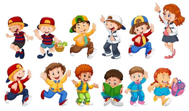 Set of children character