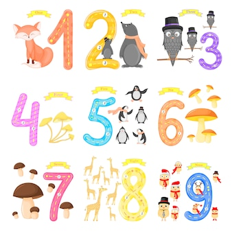子供の設定フラッシュカード番号のトレース