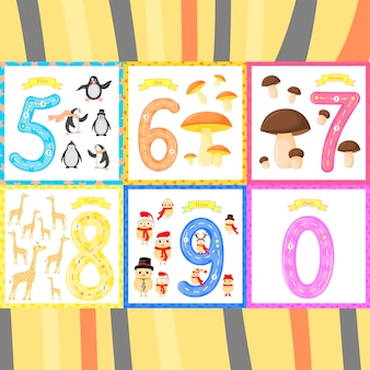 Set children flashcard number