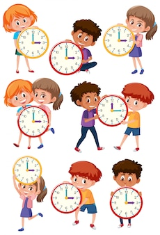 Set of children and time