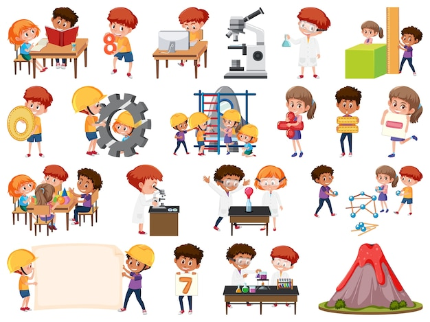 Set of children with education objects isolated