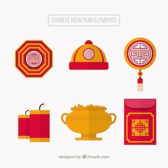 Set di elementi del nuovo anno cinese