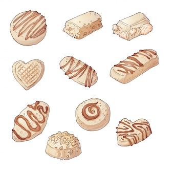 초콜릿 사탕을 설정