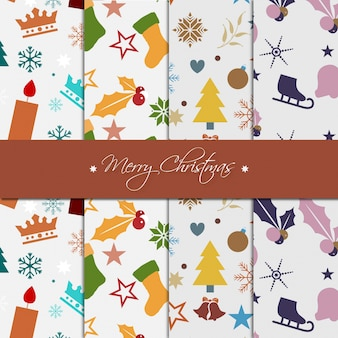 Set of chrismas pattern collection desgin
