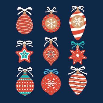 Set di ornamenti palla di natale