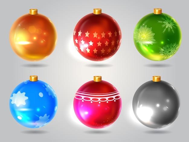 Set of christmas balls for a realistic decor