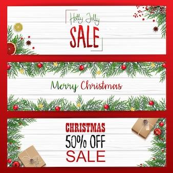 Set of christmas banners sale