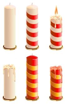 Set christmas candle