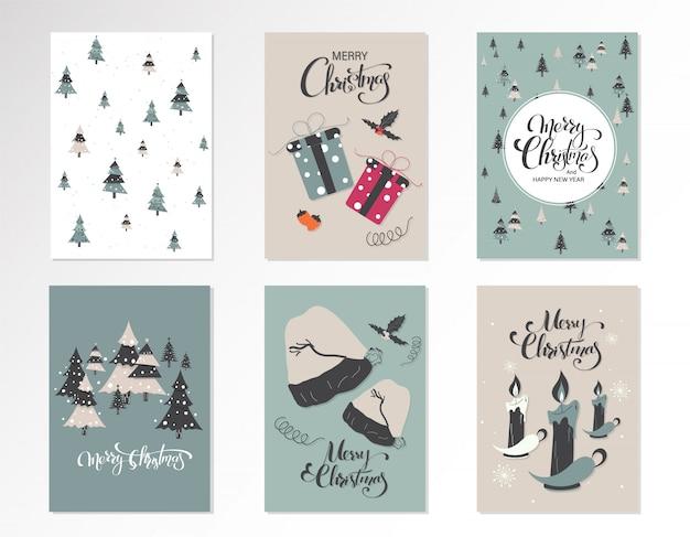 Set christmas card.