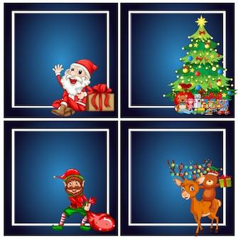 Set of christmas frame