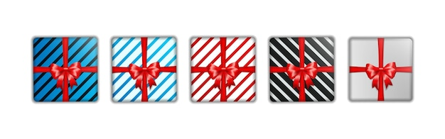 Set of christmas gift box template