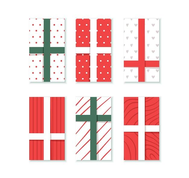 Set of christmas gift instagram stories