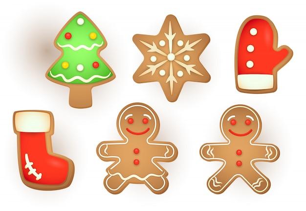 Set of christmas gingerbread