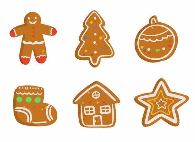 크리스마스 gingerbreads 쿠키 세트 설정