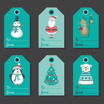 Set of christmas invitations.