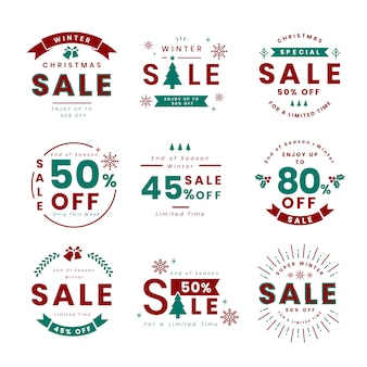Set of christmas promotion vectors