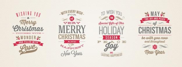 Set of christmas type designs.