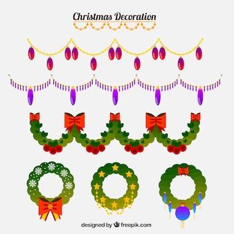 Set di natale corone decorazione