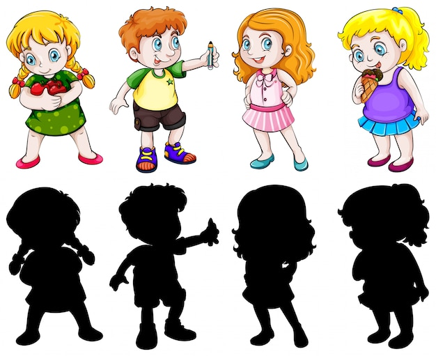 Set of chubby character