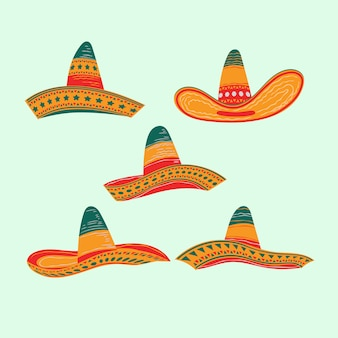 Set of cinco de mayo hat